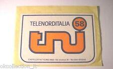 ADESIVO TV Vintage / Sticker / Autocollant_ TELENORDITALIA 58 (cm 9,5 x 6,5)