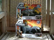 Jurassic World Roarivores Baryonyx And Allosaurus Dinosaur Action Figures