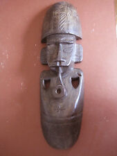 Handcrafted Handpainted Tribal Warrior African Mask with pipe