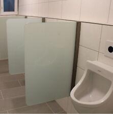 Urinal Trennwand Schamwand wandhängend 400 mm x 900 mm WC - Echtglas
