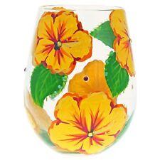 Lolita 6001315 Hibiscus Flower Stemless Wine Glass