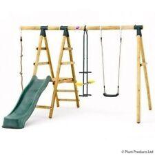 Plum Wooden Meerkat Swing Set Metal Glider Rope Sustainable Timber Play Kids