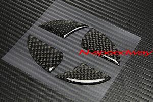 For Scion (11~16 tC) BLK Carbon Fiber Front Or Rear Emblem Decal Insert Sticker
