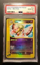 Pokemon Card PSA 10 Xatu  Reverse Foil - Skyridge - Gem Mint #35/144