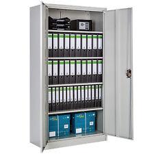 Armario de oficina metálico mueble archivador herramientas universal 180x90x40cm