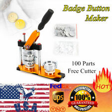 """2.28"""" Button Maker Punch Press Machine Die Mould 100 Pin Badge Parts Us Stock"""