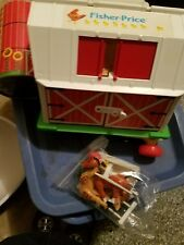 Vtg. Fisher Price Little People Farm, Barn, Silo, tractor,fencing and animals