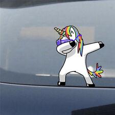 Adesivo auto riflettente impermeabile auto sole unicorno di colore umorismo BEIT
