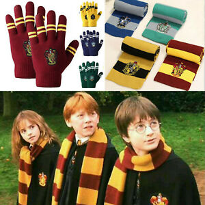 Unisex Harry Potter Scarf Gryffindor-Slytherin-Hufflepuff-Raveclaw Scarf Gloves