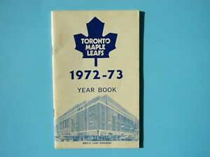 1972/73 TORONTO MAPLE LEAFS NHL HOCKEY FACT BOOK MEDIA GUIDE YEARBOOK YEAR BOOK