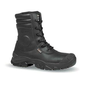 SIZE 8 + 9 UPOWER BY JALLATTE COUGAR RR70314 ZIP UP TALL SAFETY TOE CAP BOOTS