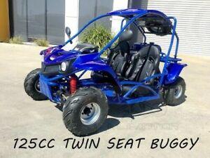 125CC Buggy ATV Sport Quad Dirt Bike 4 Wheel kart Semi Auto 3+1 SAHARA Dune BLUE