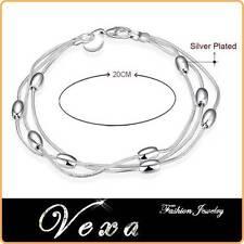 NUOVO 925 Sterling Silver Charm Bracciale Braccialetto Donna Fashion Jewelry BS06