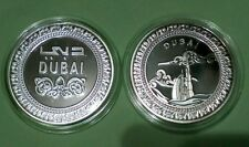 Dubai Medallion Token Coin UNC BU NEW Proof like Silver Colour