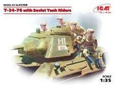 1/35 ICM 35368 - T-34-76 w/Soviet Tank Riders  Plastic Model Kit