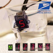 LED N- 5 Speed Motorcycle Digital Gear Indicator Shift Lever Gauge Waterproof US