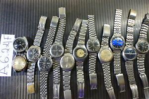 12pc  Vintage SEIKO 5 Automatic 5126 6619 7019 Diamatic etc Parts Watch Run AsIs