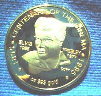 1 OZ LIM ED 999 GOLD PLATED ELVIS PRESLEY /  QUEEN ELIZABETH  COIN KING & QUEEN