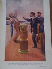 Original 1919 Print / Book Illustration The Empire Annual for Boys SHOT ON SHIP
