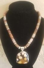 "Jay King Petrified Wood Pendant 18"" Sterling Silver Necklace $200 Retail NWTag"