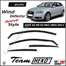 AUDI A3 or S3 MK2 5-Doors 2004-2012 Sportback Hatchback 4pc Wind Deflectors HEKO