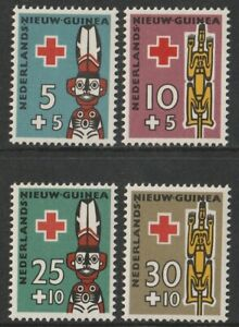 Netherlands New Guinea: 1958. SG55/8, 5c + 5c to 30c + 10c Red Cross Fund. LMM.