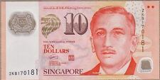 Singapore 10 Dollars UNC**New Sign - Polymer (signed title: MAS)