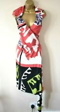 VIVIENNE WESTWOOD RED LABEL 44 Matisse Painting Print Draped Jersey Wrap Dress
