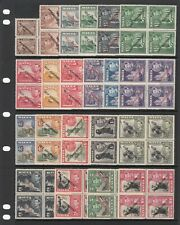 Malta, 1948 Self-Government Overprints Blocks of 4. SG 234-48 Unmounted Mint MNH