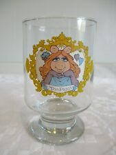Vintage The Muppets Show Glass Tumbler. Miss Piggy. 1970s.