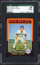 1975 Topps Mini #223 Robin Yount Rookie Card SGC 88 NM-MT.  Exceptional Card!