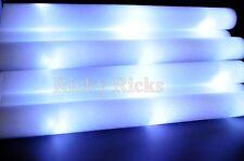 100 PCS Light-Up White Foam Sticks LED Flashing Wands Rally Rave Glow Baton