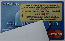 Expired Chase Bank Rewards Blink Master Card Credit Card with Sticker New