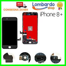 LCD PER APPLE IPHONE 8 PLUS NERO DISPLAY ORIGINALE TIANMA TOUCH SCREEN FRAME 8+