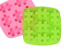 7 Puzzle 3D Brick Mold Silicone Tray Chocolate Ice Cube Jelly Fun Mould