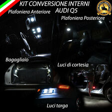 KIT LED INTERNI AUDI Q5 8R CONVERSIONE COMPLETA + LUCI TARGA NO ERROR  6000K
