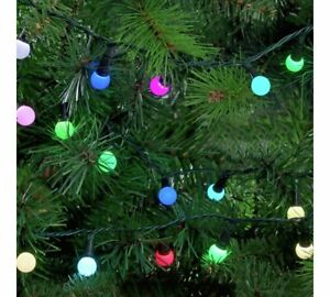 Home 160 LED Berry Christmas Tree Lights - Multicoloured