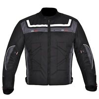 Men's Motorcycle Waterproof Cordura Textile Jacket Motorbike CE Armours Grey
