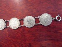 Tolles Silber Armband 1/2 Mark Münzen Kaiserreich Trachten Charivari Ausgefallen