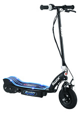 Razor E100 Glow Electric Scooter spring gift used blue silver