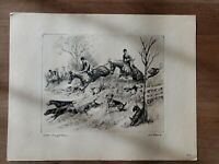 "R. H. Palenske (1884-1954) Vintage Etching ""Look I've Got Him"" Signed  16"" x 12"""