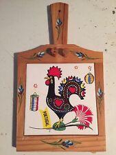Portugal Cheese Cutter Knife Board Set Wood Antique Souvenir Set rustic