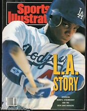 Sports Illustrated 1991 Los Angeles Dodgers Darryl Strawberry No Label Excellent