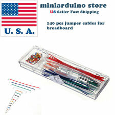 140pcs Solderless Breadboard Jumper Cable Wire Kit U Shape For Arduino Shield Us