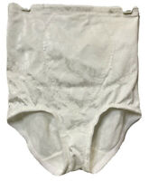 Vtg Jaclyn Smith Nylon High Waisted Panty Brief Tummy Control Shaper White Sz M