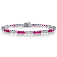 Lafonn Lab-Grown Ruby and Simulated Diamond Tennis Bracelet
