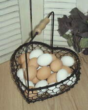 Chicken Eggs Set of 6 Lifesize Faux Eggs Terra Cotta Green and Brown