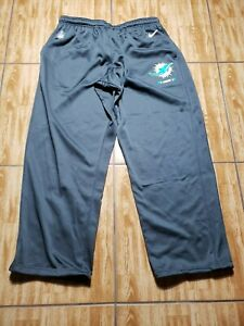 Nike Miami Dolphins Football Pants Team Issued Gray Adult Size 3XL Dri Fit Mens