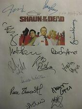 Shaun of the Dead Signed Film Script X16 Simon Pegg Nick Frost Kate Ashfield rpt