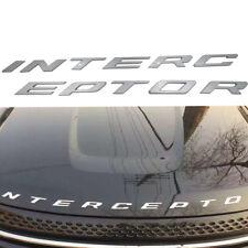 3D Silver Black Ford Crown Victoria Police Interceptor hood Emblem letters